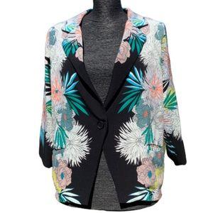 Corey Lynn Calter kimono floral Anana blazer